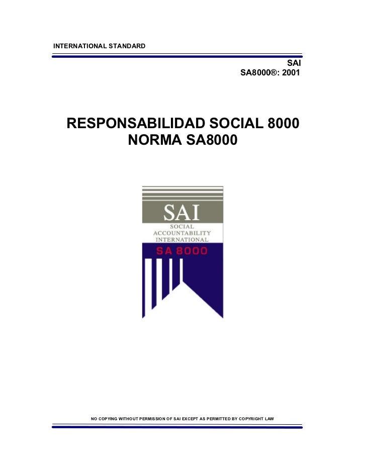 RESPONSABILIDAD SOCIAL 8000