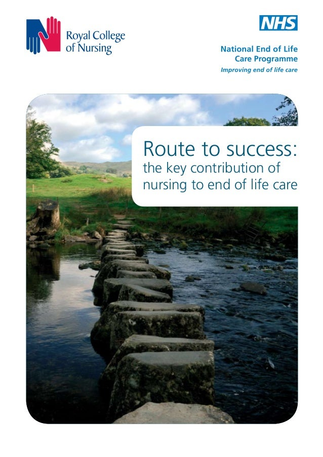 Route to success: the key contribution of nursing to end of life care