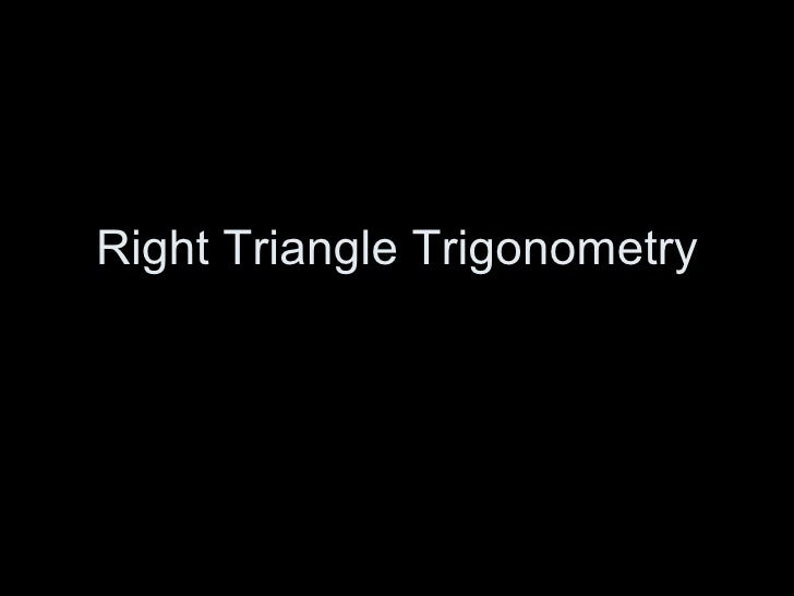 Rt triangle trig
