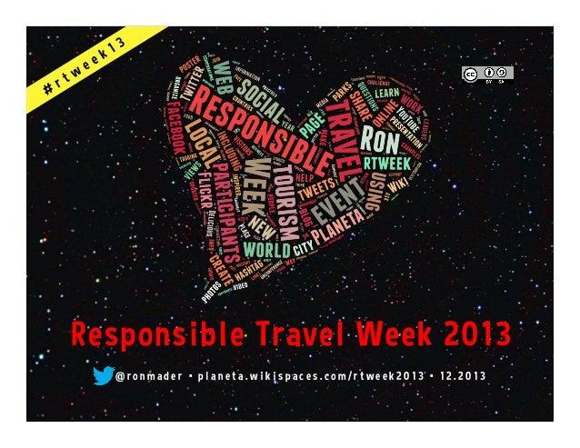Responsible Travel Week 2013