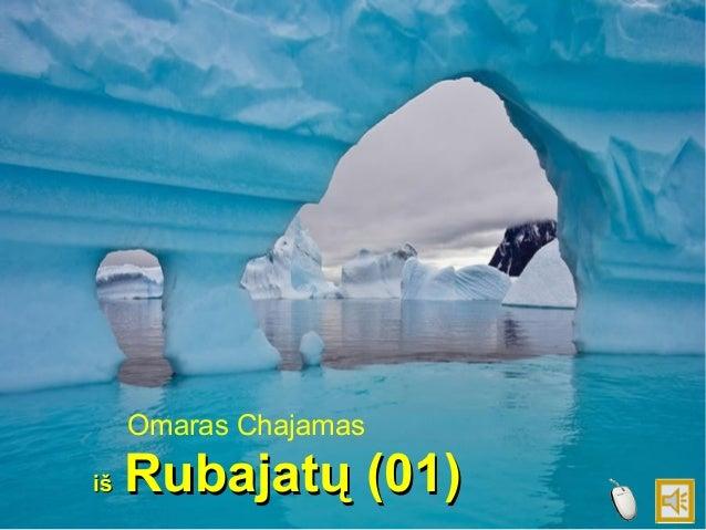 Omaras Chajamas iš  Rubajatų (01)