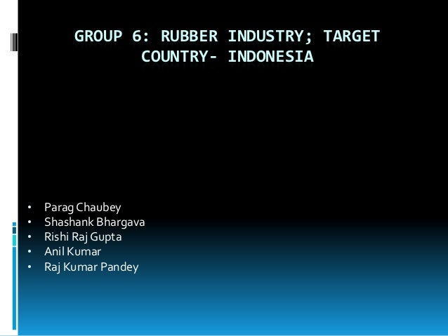 GROUP 6: RUBBER INDUSTRY; TARGET                COUNTRY- INDONESIA•   Parag Chaubey•   Shashank Bhargava•   Rishi Raj Gupt...