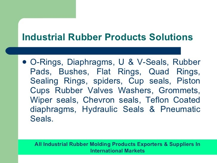 Industrial rubber molding products manufacturer in