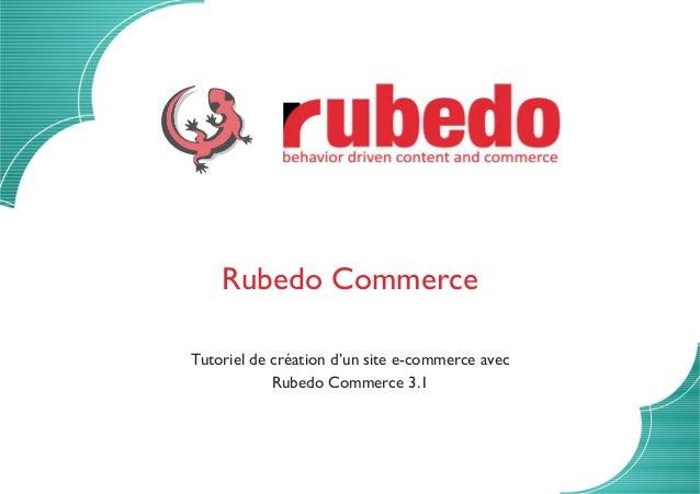 Rubedo Commerce Tutoriel de création d'un site e-commerce avec Rubedo Commerce 3.1