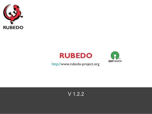 V 1.2.2 RUBEDO http://www.rubedo-project.org