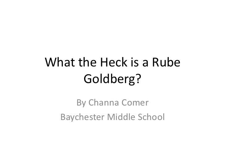 Rube goldberg ppt