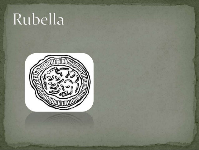  Rubella is an acute childhood disease, usually mild, of  short duration (3 days) characterized by fever, lymphadenopathy...