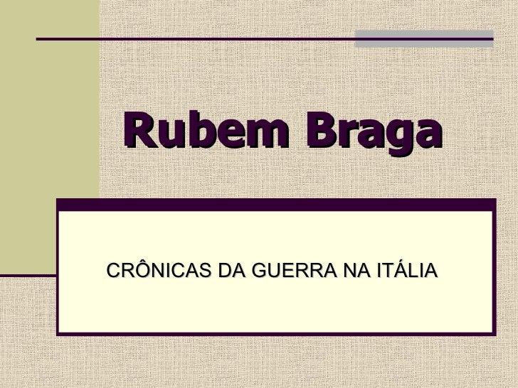 Rubem Braga CRÔNICAS DA GUERRA NA ITÁLIA