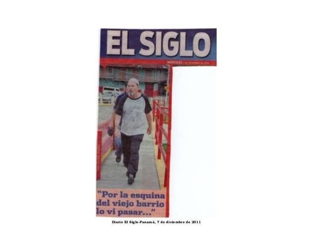 Diario El Siglo-Panamá, 7 de diciembre de 2011
