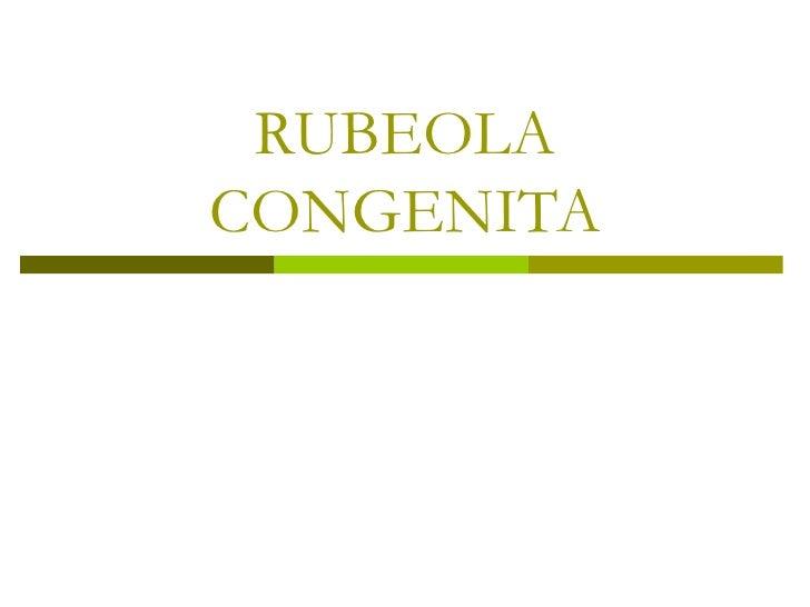 RUBEOLACONGENITA