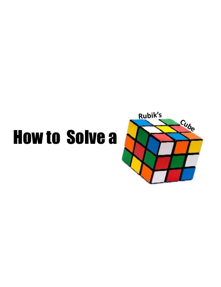 how to solve a cube pdf