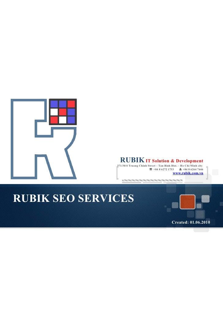 Rubik seo services