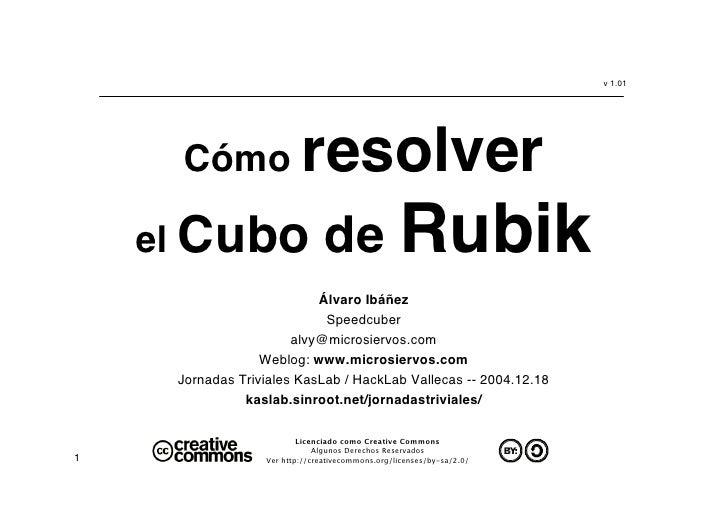 v 1.01          Cómo                 resolver     el Cubo                     de Rubik                            Álvaro I...