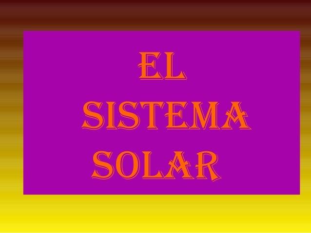 Rubén. sistema solar