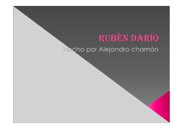 (Rubén darío) amalia s
