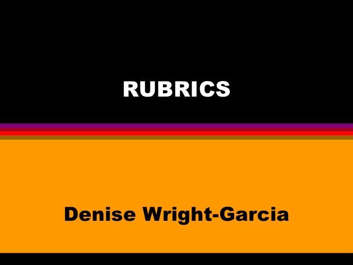 Rubric Presentation2