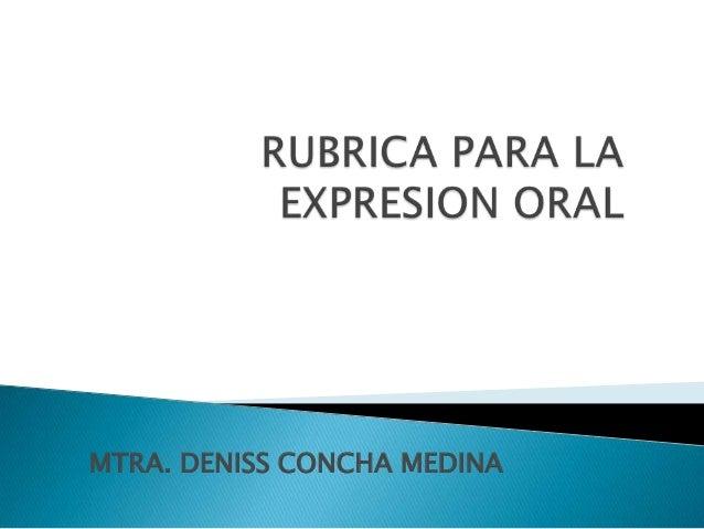 MTRA. DENISS CONCHA MEDINA