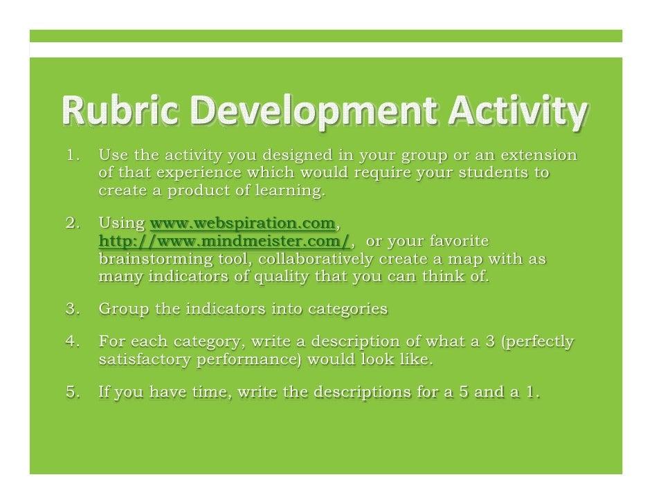 Rubric Development Activity