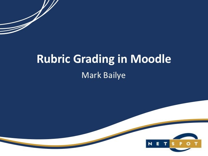 Rubric grading in moodle