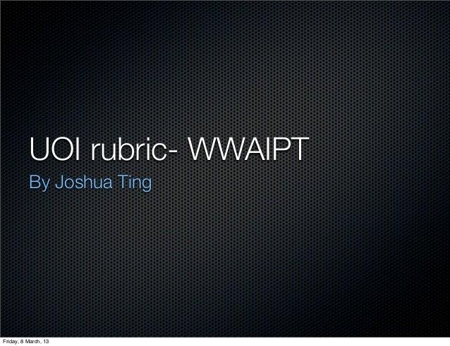 Rubric keynote (joshua)