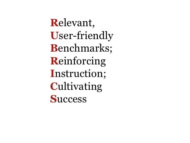 Relevant,User-friendlyBenchmarks;ReinforcingInstruction;CultivatingSuccess