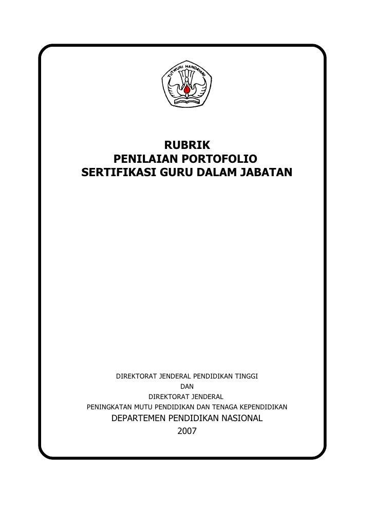 Rubrik penilaian portofolio final