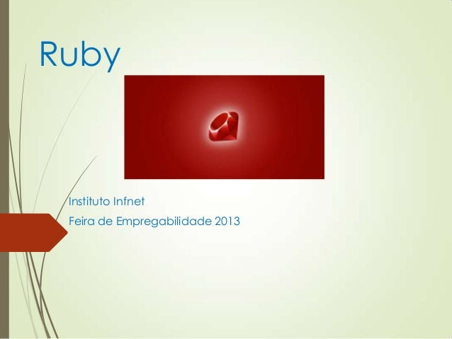 Ruby Instituto Infnet Feira de Empregabilidade 2013