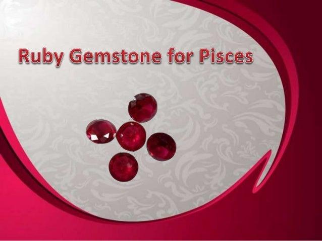 ruby gemstone or manik gemstone for pisces