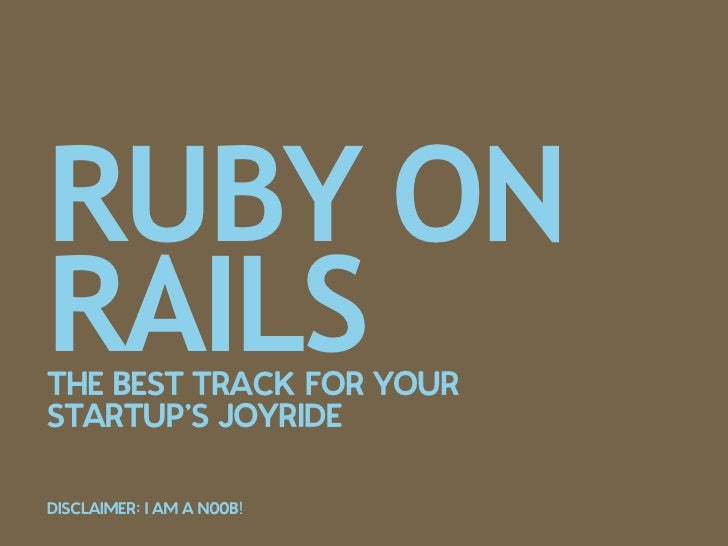 Ruby on Rails - The Best Track for your Start Up