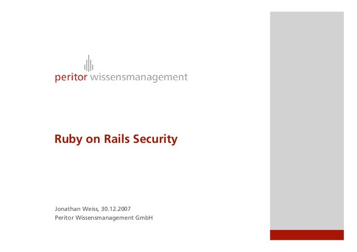 Ruby on Rails Security