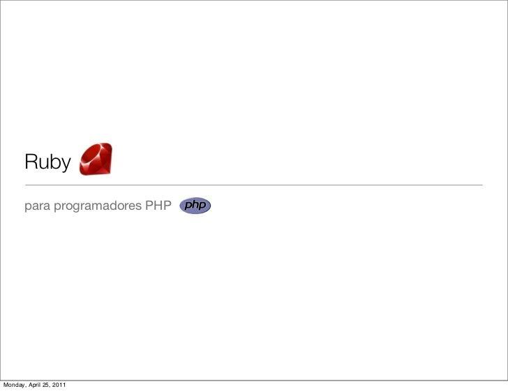 Ruby para-programadores-php