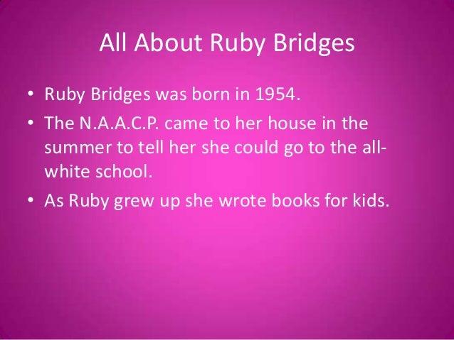 all about ruby bridges ruby bridges was born in 1954