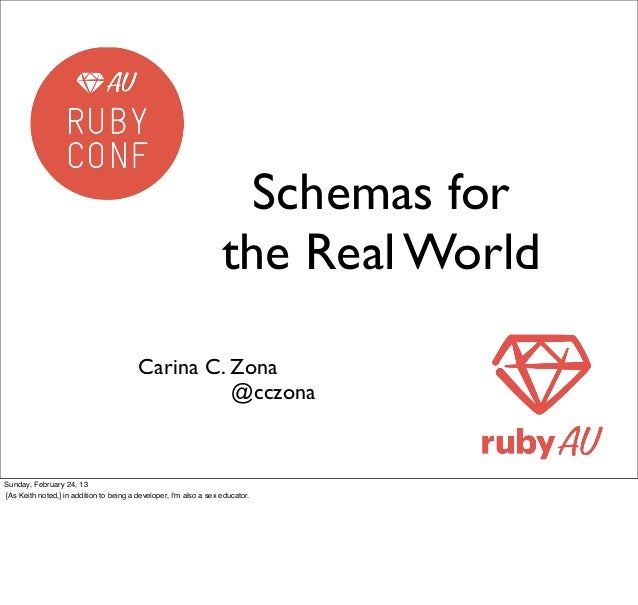 Schemas for the Real World [RubyConf AU 2013]