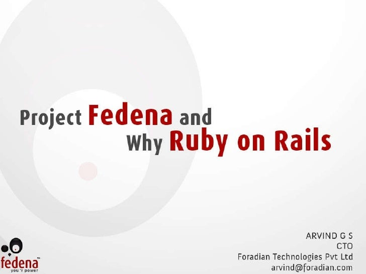 Ruby Conf India - Project Fedena & Why Ro R