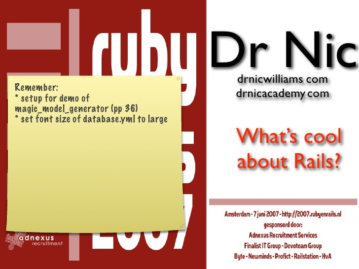 Dr Nic                                             drnicwilliams.com Remember:                                            ...