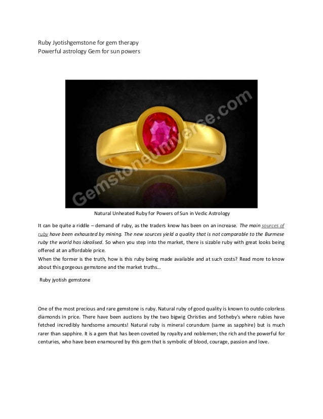 Ruby Jyotishgemstone for gem therapy Powerful astrology Gem for sun powers Natural Unheated Ruby for Powers of Sun in Vedi...
