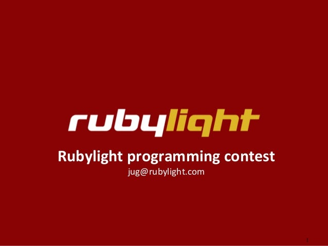 Rubylight programming contest