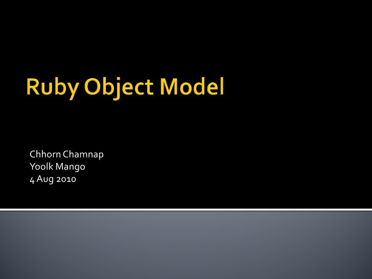 Ruby object model