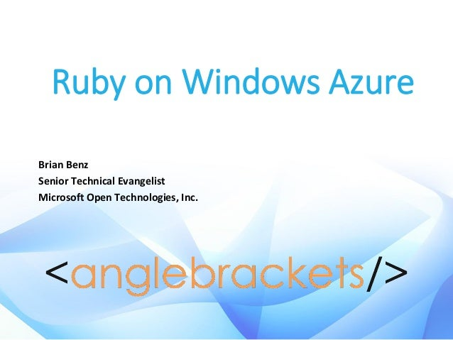 Ruby on microsoft azure   april 2014