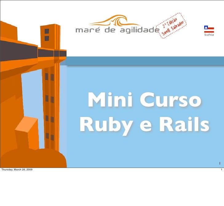 Minicurso Ruby e Rails