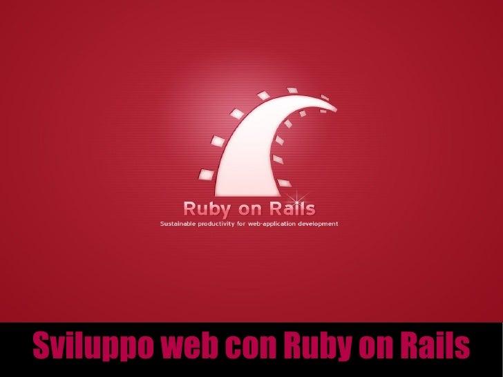 Sviluppo web con Ruby on Rails