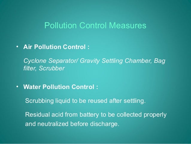 environmental pollution problems and control measures View notes - lecture 10 - environmental pollution and control from math depar 101 at mapúa institute of technology lecture 10: environmental pollution, problems and measures definition.