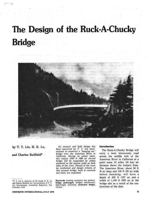 The Design of the Ruck-A-Chucky Bridge