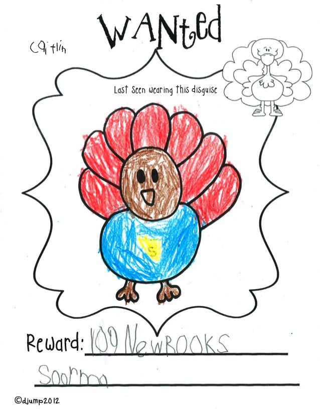 Rudd Hand Drawn Turkey Wanted Posters