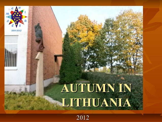 AUTUMN INLITHUANIA 2012
