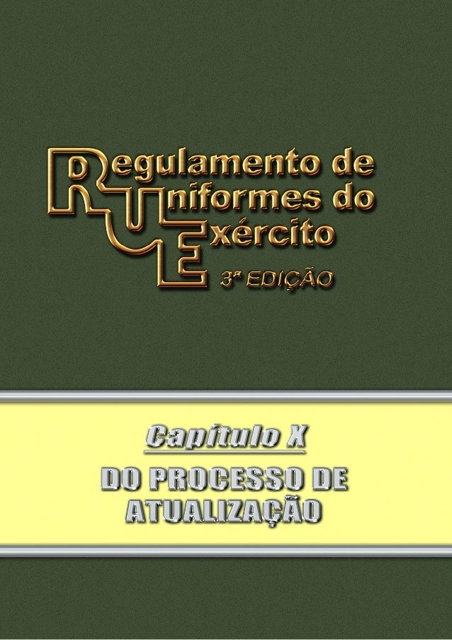 Pag 2 INDICE III III IV V VI VII VIII IX X XI Art. 238. O processo de atualização do Regulamento de Uniformes do Exército ...