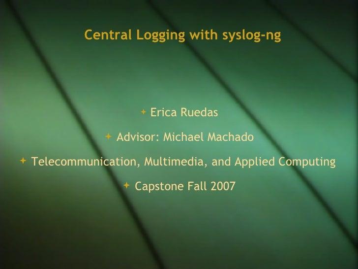 <ul><li>Erica Ruedas </li></ul><ul><li>Advisor: Michael Machado </li></ul><ul><li>Telecommunication, Multimedia, and Appli...