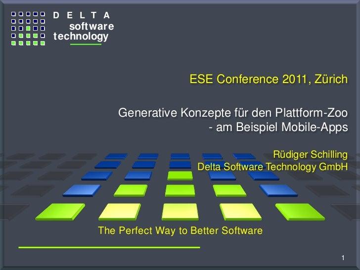 """ESEconf2011 - Schilling Rüdiger: """"Generative Konzepte für den Plattform-Zoo - am Beispiel Mobile-Apps"""""""
