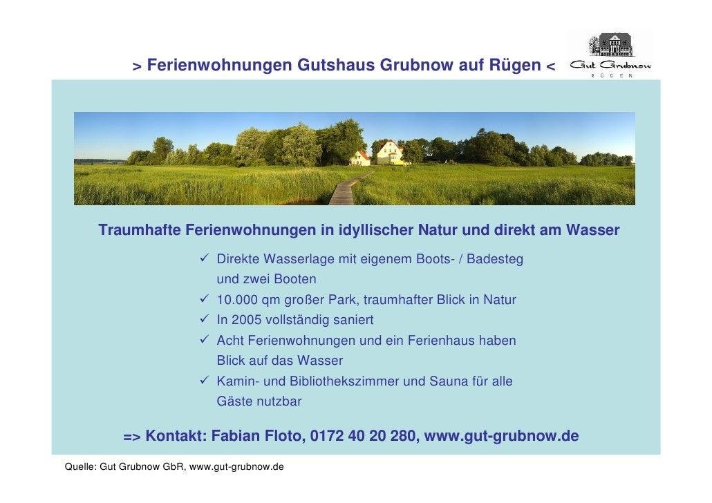> Ferienwohnungen Gutshaus Grubnow auf Rügen <           Traumhafte Ferienwohnungen in idyllischer Natur und direkt am Was...