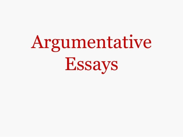 ArgumentativeEssays